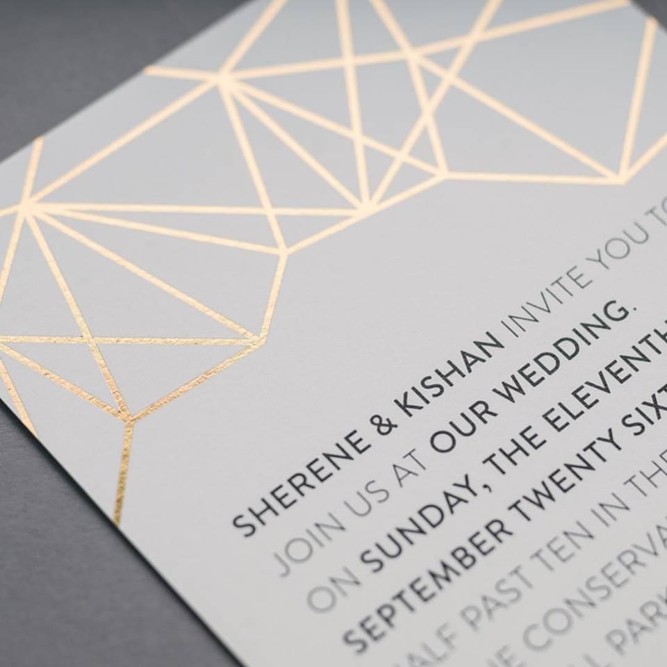 Wedding Invitation The Foil Stationery Company