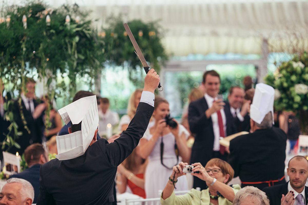 Wedding reception entertainment chefs
